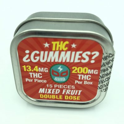 THC Gummies - Mixed Fruit - 15 Pieces