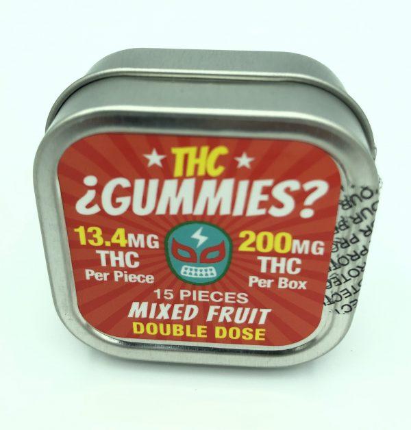 THC Gummies - Mixed Fruit - 15 Pieces
