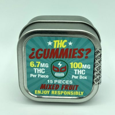 THC Gummies Mixed Fruit 10 Pieces