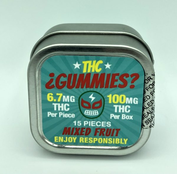 THC Gummies Mixed Fruit 10 Pieces